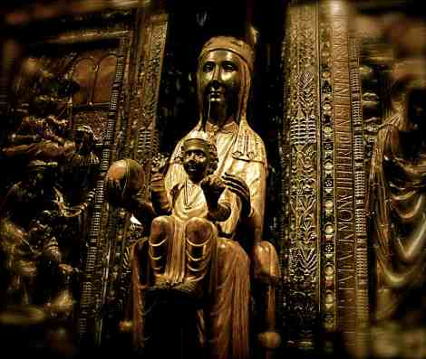 The Black Madonna at the Benedictine Monastery at Montserrat