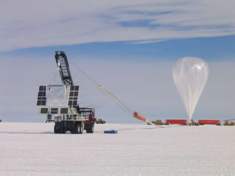 A Long Duration Balloon being prepared for launch
