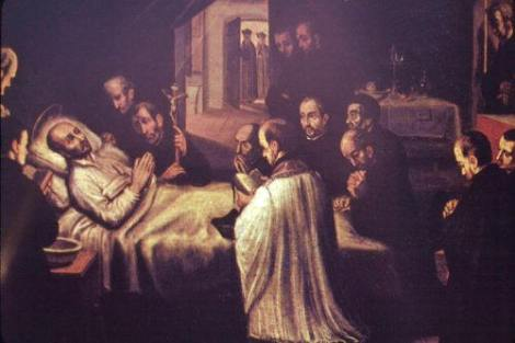 The death of Saint Ignatius in 1556
